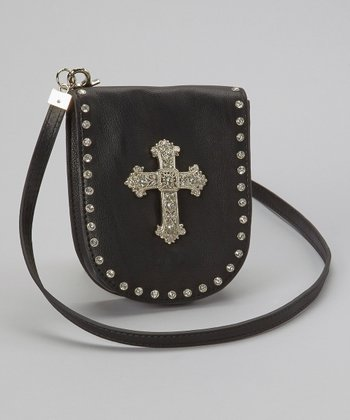 Brown Hematite Cross Crossbody Bag