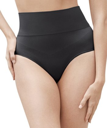 Black Léger Mid-Waisted Shaper Thong - Women & Plus
