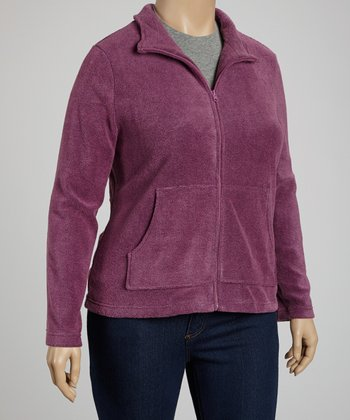 Rose Pocket Fleece Jacket