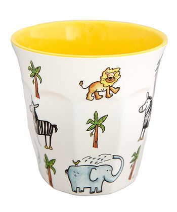 White & Yellow Jungle Cup