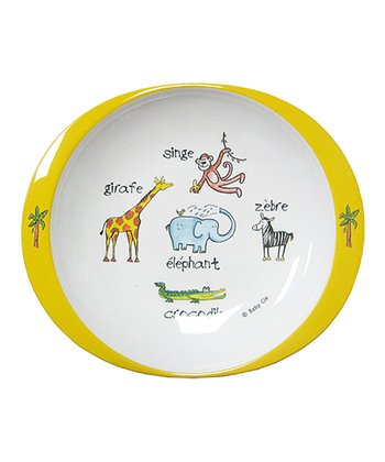 Yellow & White Jungle Plate