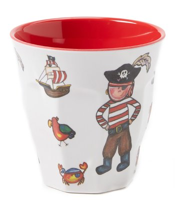 White & Red Pirate 10-Oz. Cup
