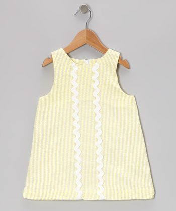 Yellow Seersucker Nora Shift Dress - Toddler