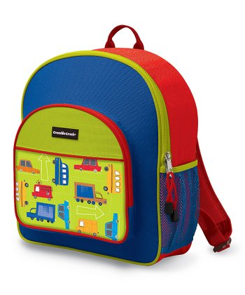 Blue Traffic Jam Pocket Backpack