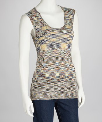 Terra-Cotta & Brown Drape-Back Tank - Women