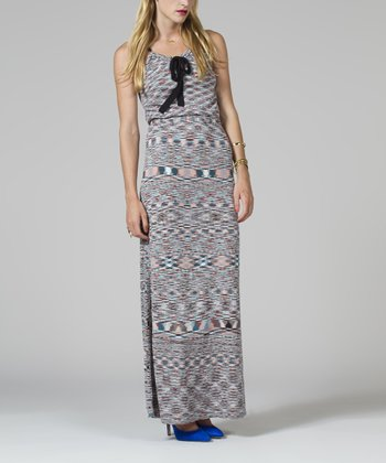 Gray & Blue Maxi Dress