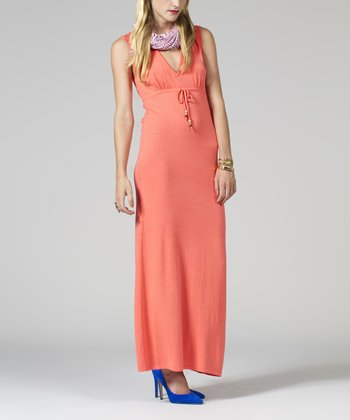 Tangerine Empire-Waist Maxi Dress - Women