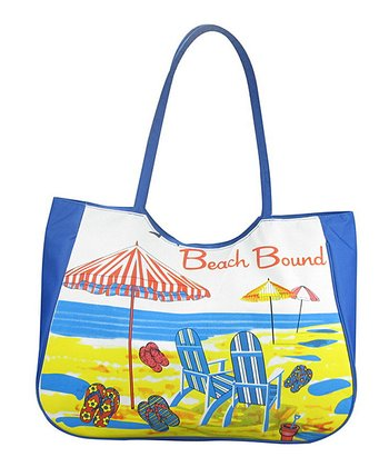 Blue 'Beach Bound' Tote