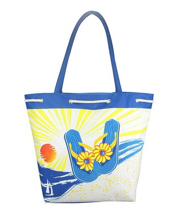 Royal Blue Sandal Tote