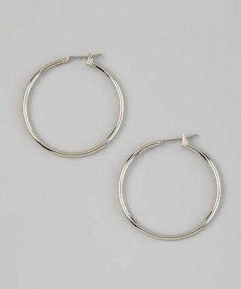 Silver Simply Hoop Earrings