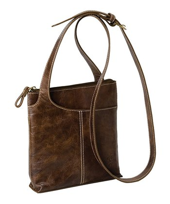 Brown Leather On The Go Crossbody Bag