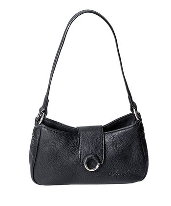 Black Leather Forever Young Shoulder Bag