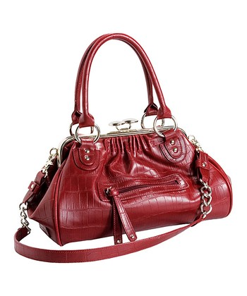 Red Leather Impact Satchel