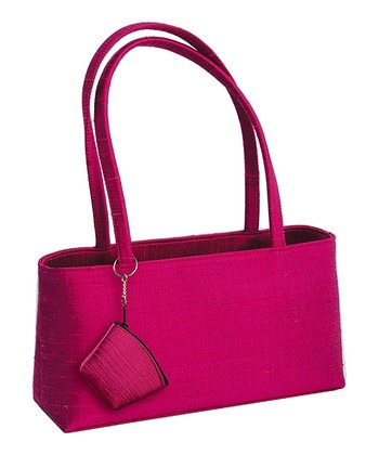 Pink Silk Festive Shoulder Bag
