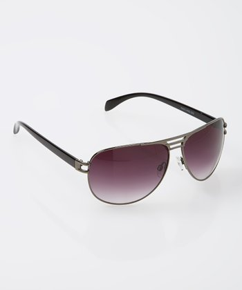 Black & Purple Pilot Sunglasses