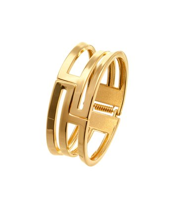 Gold Geometric Cutout Bangle