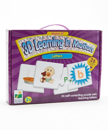 Letters Match It 3-D Puzzle Card Set