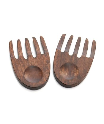 Rubberwood Salad Hand Set