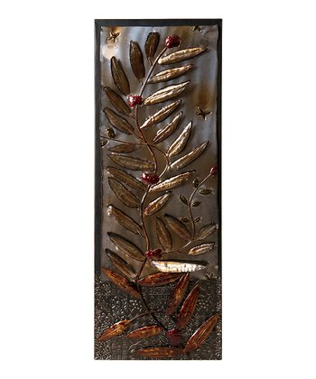 Decorative Leaf Wall Plaque