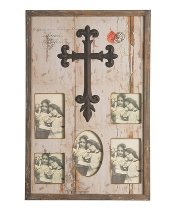 Cross Distressed Picture Frame