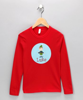 Red & Blue Elf Personalized Tee - Infant, Toddler & Boys