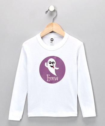 White Silly Ghost Personalized Tee - Infant, Toddler & Kids