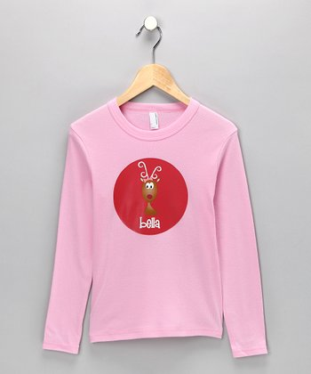 Pink Reindeer Personalized Tee - Infant, Toddler & Girls