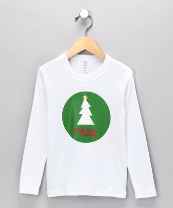 White Christmas Tree Personalized Tee - Infant, Toddler & Boys