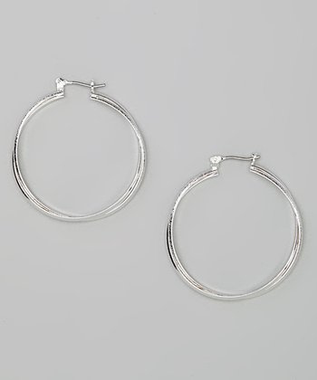 Silver Double-Strand Hoop Earrings