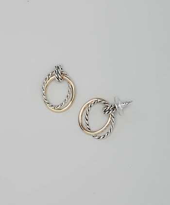 Gold & Silver Twist Drop Earrings