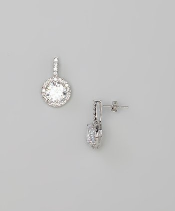 Sterling Silver Simulated Diamond Drop Earrings