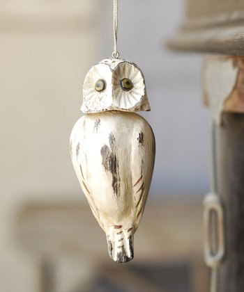 White Hoot Ornament