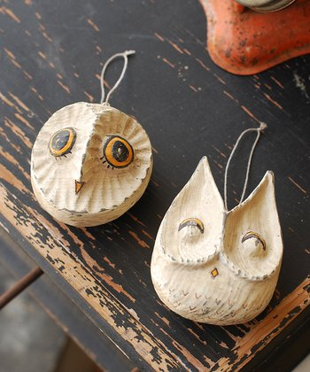 Hoot & Hoo Ornament Set