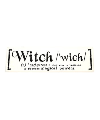 'Witch' Definition Wall Art