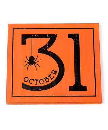 'October 31' Small Wall Art