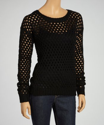 Black Loose-Knit Sweater