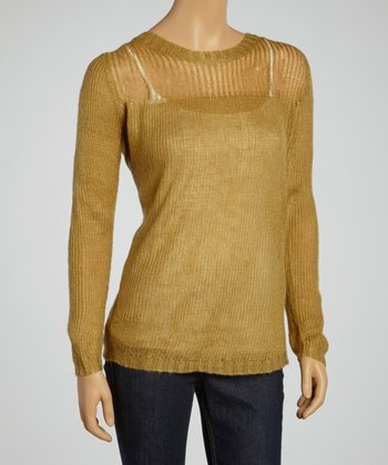 Camel Crewneck Sweater