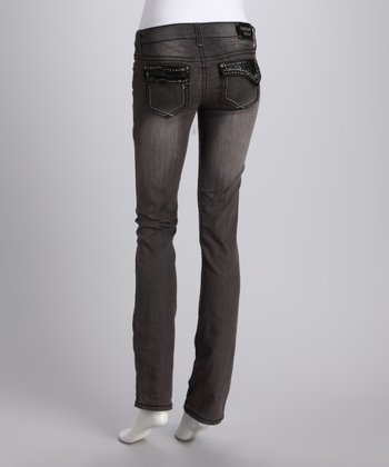 Dark Gray Ticket Tori Straight-Leg Jeans