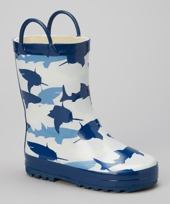 Blue Shark Rain Boot