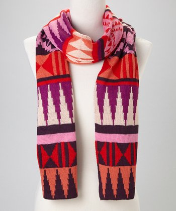 Red Tribal Scarf