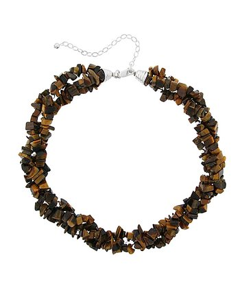 Tiger's Eye & Sterling Silver Twist Necklace