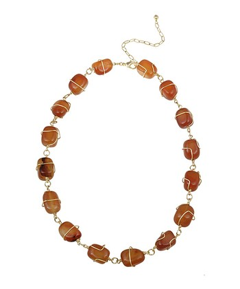 Carnelian & Gold Necklace