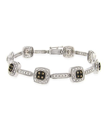 Brown Diamond & Sterling Silver Bracelet