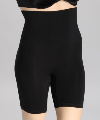 Black Seamless Shaper High-Waisted Shorts - Plus