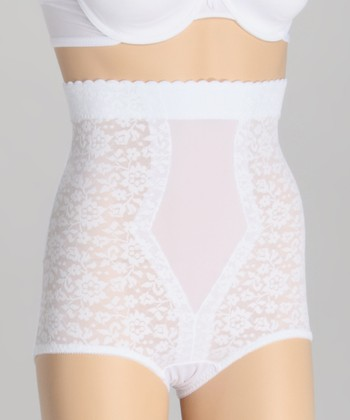 White Firm-Control Shaping High-Waist Briefs - Women & Plus