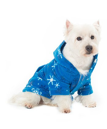 Blue Snow Day Pet Hoodie