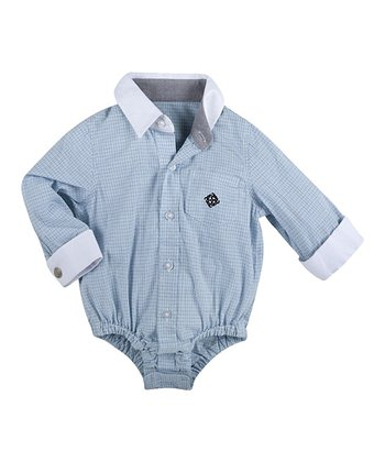 Blue Necessary Cuffness Shirtzie Bodysuit - Infant