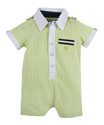 Green Ging-Around-The-Rosie Romper - Infant
