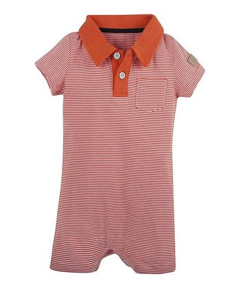 Orange Omega Stripe Romper - Infant