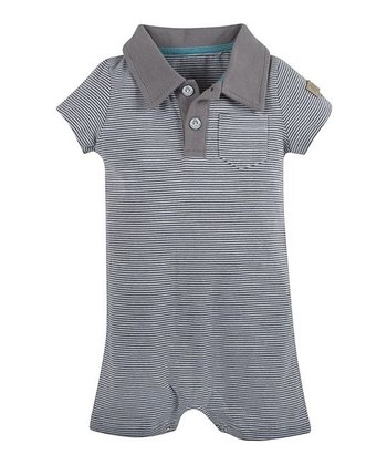 Gray Gordon Stripe Romper - Infant
